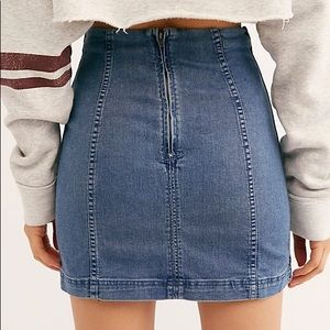 Free People Skirts - Free People Dark Denim Skirt